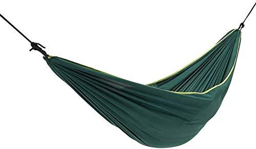 MCE Hamaca doble portátil y ligera, multifuncional para 2 personas, para camping, viajes, playa, patio, jardín, senderismo, color verde