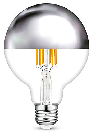 E27 LED filament lamp Capella kopspiegel zilver 8 Watt G95 dimbaar (vervangt 54W)