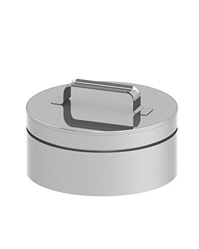 Rußtopf abnehmbar mit Kondensatablauf für doppelwandige Schornsteine DW; Ø150mm Innendurchmesser, Edelstahl