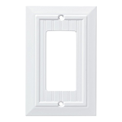 Franklin Brass W35267-PW-C Classic Beadboard Single Decorator Wall Plate/Switch Plate/Cover, Pure White
