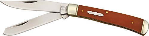 Rough Rider Couteau de Poche Longueur fermé 10,48 cm Poignée Ergonomique Orange