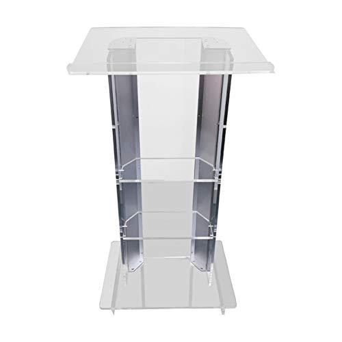 YzDnF Acrylpodium Klare Artenkirche Kanzelschule Aluminiumlegierung Regal-Rahmen Easy Montage Stand auftragen (Color : Transparent, Size : 60X40X110CM)