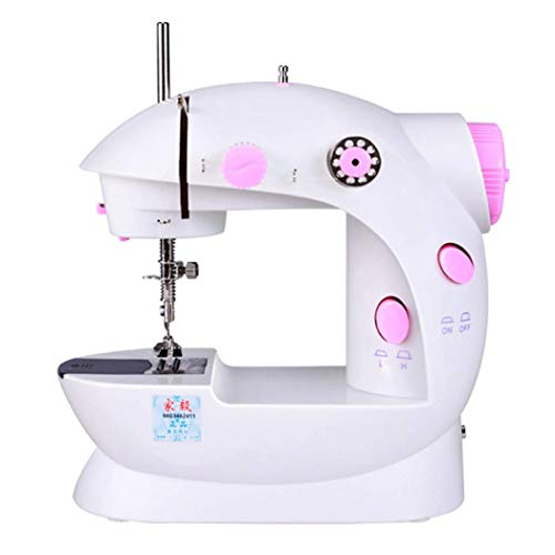 AYES Elektronische naaimachine Thuis naaimachine Mini Handheld naaimachine voor beginners en kinderen Eén maat Roze Britse Standaard