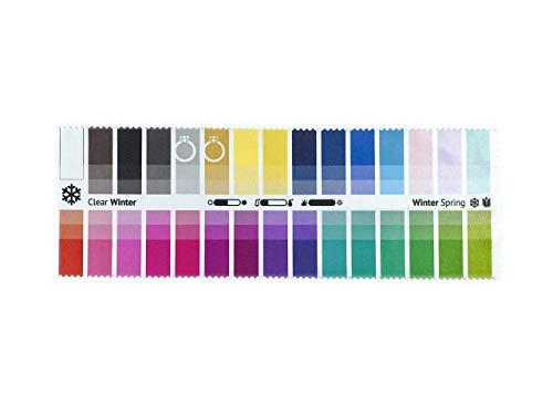Stoff-Farbpass Winter-Frühling (Clear Winter) mit 30 typgerechten Farben zur Farbanalyse, Farbberatung, Stilberatung