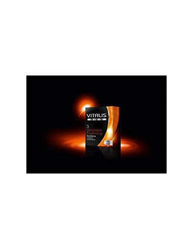 Vitalis stimulation & warming, 3er Pack Kondome, 3 Stück