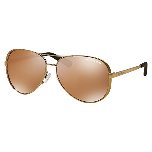 Michael Kors Chelsea MK5004 gafas de sol, Dorado (gold-gold verspiegelt polarisiert 10042T), Large para Mujer