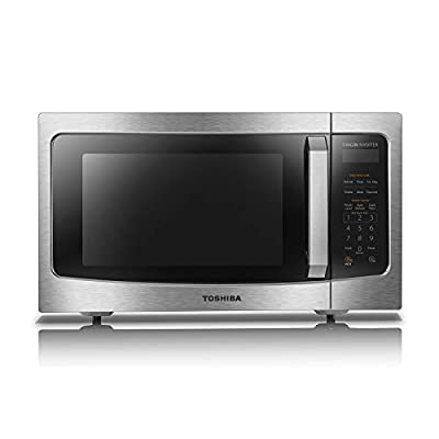 Toshiba ML-EM45PIT(SS) Microwave Oven with Origin Inverter Technology, LCD Display and Smart Sensor, 1.6 Cu.ft, Stainless Steel