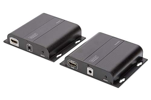 4K HDMI Extender Set Over IP, 4K*2K@30Hz Over Network Cable (Cat 5/5e/6/7), Black