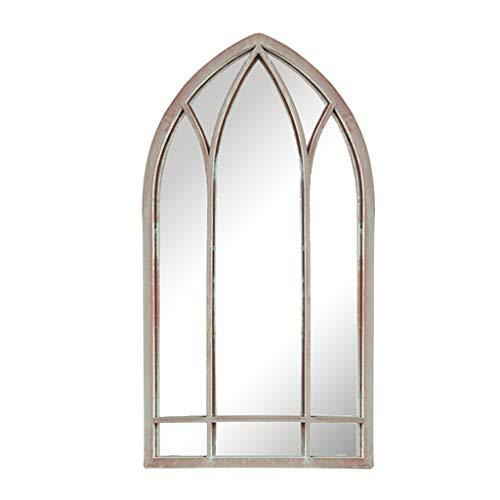 Espejo de baño Espejo Decorativo de Pared 48x83 cm Espejo de Pared Vintage de Metal Espejo de Arte en Forma de Ventana Pared Adecuado para Dormitorio, Sala de Estar, Entrada, etc.