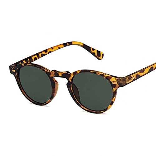 Tanxianlu Gafas de Sol de Ojo de Gato ovaladas Retro para Hombres y Mujeres, Gafas de Sol de diseñador de Marca Vintage para Hombre y Mujer, Gafas de Espejo de conducción Uv400,D