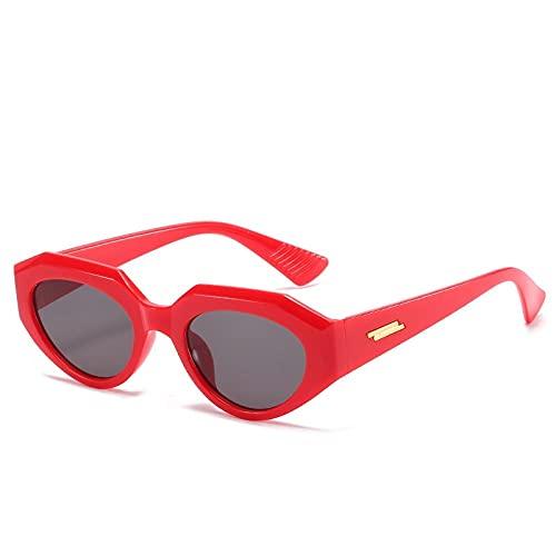 LOPIXUO Gafas de sol Las señoras del gato gafas de sol de los ojos de las mujeresde moda de la vendimia Pequeño Marco retro de los vidrios de Sun Mujer, C6