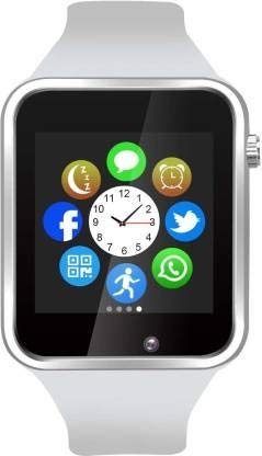 MAKECELL Bluetooth A1 Bluetooth SmartWatches | Smart Watch Compatible for All Mobile Phones for Boys and Girls (White)