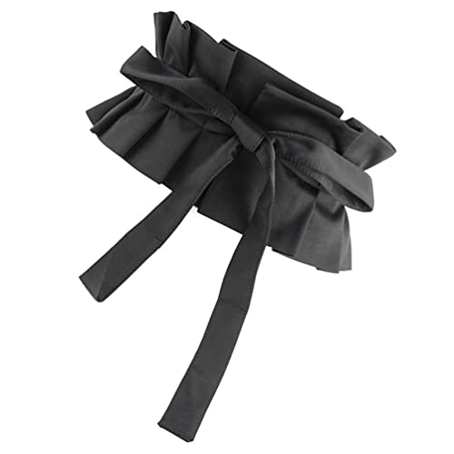 VALICLUD Black Waist Wide Bowknot Belts for Women Wedding Dress Clothes Shirt Costume Cosplay Accessories 77X14X1cm