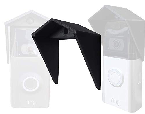 Gestech [ Slim Fit Plus ] Video Doorbell Sun Rain Cover Weather Shield Wall Door Frame Compatible with Ring Video Doorbell, 2, 3, 3 Plus and Eufy 2K Wireless