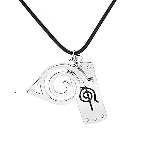 ArtPresarron Collar de Naruto Konoha, para disfraz de Naruto Ninja Cosplay collar accesorio, gran regalo para los fanáticos de Naruto. (Anti-Konoha)