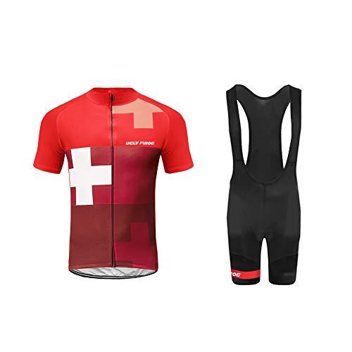 Uglyfrog MUEN01 Estate Uomini Sport all'Aria Aperta Usura Manica Corta Magliette Ciclismo Maglia Bicicletta Abbigliamento Bici Triathlon Wear