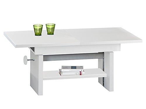 möbelando Couchtisch Wohnzimmertisch Sofatisch Beistelltisch Kaffeetisch Tisch Bruni I Weiß