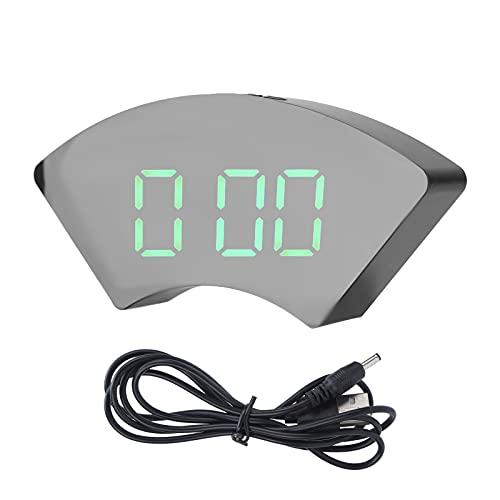 CUTULAMO Relojes de Pared, Reloj Despertador Digital LED con función de Memoria de Tiempo para Dormitorio para Sala de Estar(Verde)