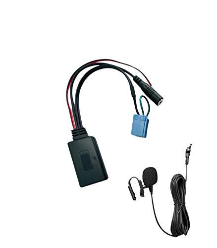 1neiSmartech Ricevitore Adattatore Aux Senza Fili Bluetooth Con Ponticello Compatibile Con Autoradio No Souce Available Delphi Bosch Con Microfono Per Vivavoce