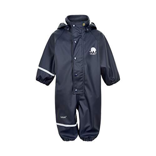 Celavi Baby-Jungen Regenanzug einteilig in Vier Farben Regenjacke, Blau (Dark Navy 778), (Herstellergröße:80)