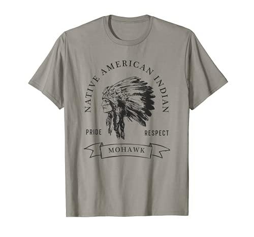 Mohawk Native American Indian Pride Respect Vintage Camiseta