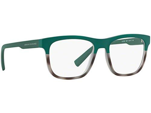 Armani Exchange AX3050 Brillen 53-18-140 Matt Grau Grün Mit Demonstrationsgläsern 8247 AX 3050