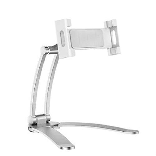 U/A Soporte para teléfono de escritorio, soporte para tableta de escritorio, soporte de cocina, soporte de pared, ajustable, adecuado para tabletas y Apple/Ipone/Huawei/Samsung/xiaomi