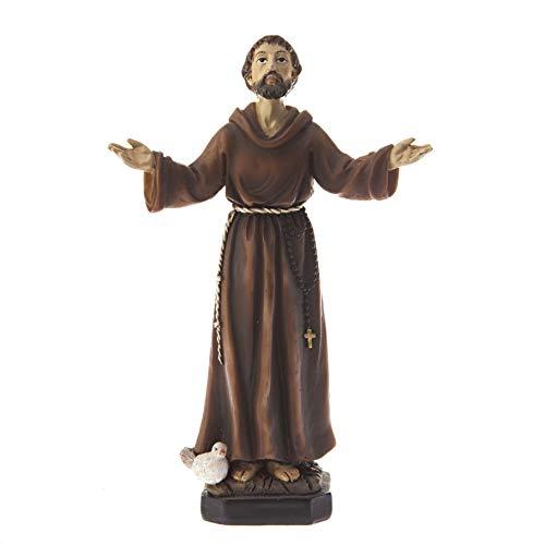 DELL'ARTE Articoli Religiosi Statua San Francesco d'Assisi cm 20