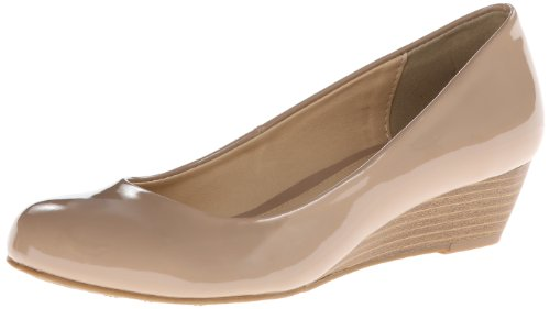 CL by Chinese Laundry Women's Marcie Wedge Pump, New Nude Patent,7.5 M US
