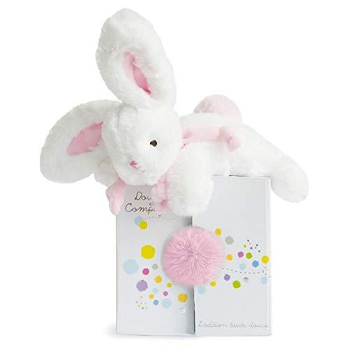 Doudou et Compagnie- Peluche de conejo, color rosa, 20 cm.