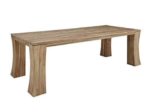 Table à manger 260x100cm - Bois massif de teck brut recyclé (Bois naturel) - BASSANO #109