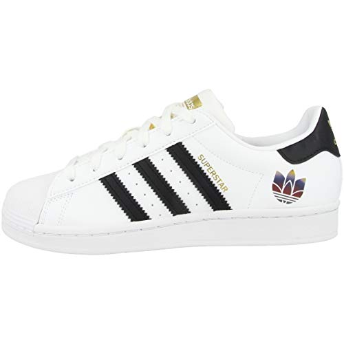 adidas Originals Superstar W, Footwear White-Core Black-Gold Metallic, 6,5