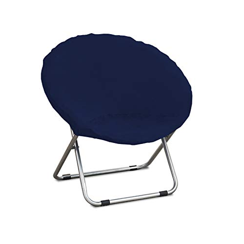ZC MALL Velvet Saucer Chair Slipcovers,Moon Chair Covers,Spandex Fabric Stretch Chair Saucer Slipcover,Navy Blue