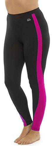 Tom Franks Damen Leggings Hose Gr. Medium, Rosa - Black-Pink