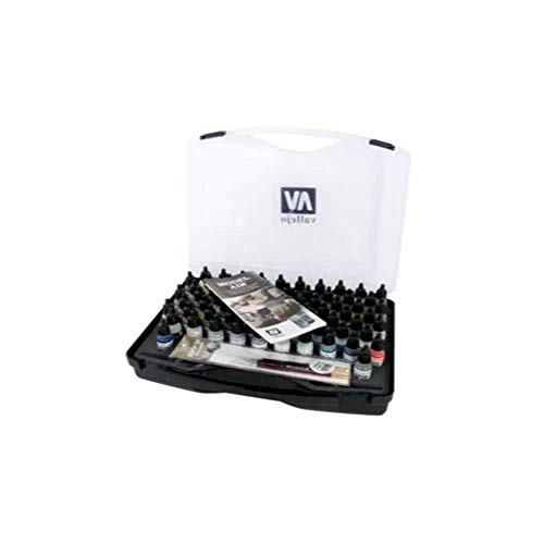 Model Air Basic Range Box Set (72 Colours + 3 Brushes + Carry Case) - Val71170