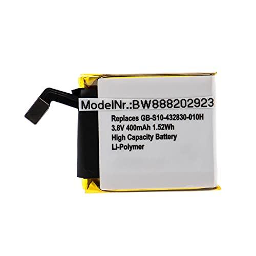 vhbw Batería Recargable reemplaza Sony GB-S10-432830-010H para smartwatch, Reloj de Actividad (400 mAh, 3,8 V, polímero de Litio)