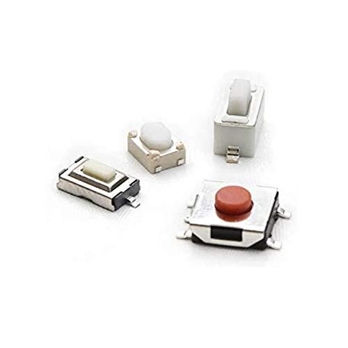 GUODONG MAYE2021 250pcs 10-Tipos Interruptor de botón Táctil Táctil Interruptor de Control de Control Remoto Botón Toque MicroSwitch