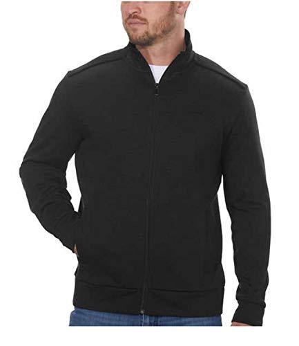 Calvin Klein Men's Full Zip Fleece Jacket (L, Raspberry Choc)
