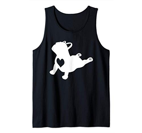 French Bulldog Yoga Pose Love Heart Frenchie Workout Gift Tank Top