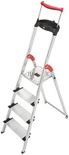 Hailo 9204010020 8854-001 4FT Folding Lightweight Aluminum Platform Step Ladder, Worktray, Silver