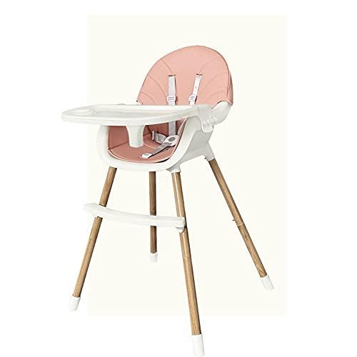 BIDLS 赤ちゃんハイチェア、調節可能な高さ、二重層の取り外し可能なディナープレート、5点安全ベルト、取り外し可能なシートクッション、赤ちゃん男