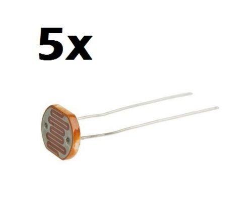 5 X fotoresistenza 5mm LDR 5528 fotosensore fotocellula photoresistor (arduino-compatibile)