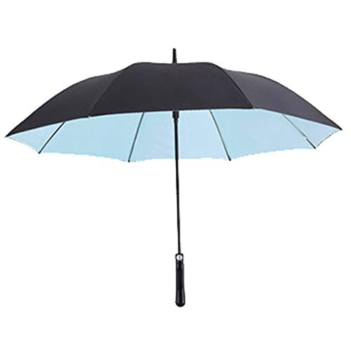 Find Discount HUTTLY Large Golf Umbrella Windproof Double Layer 138cm Glass Fiber Man Business Adver...