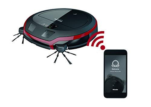 Miele Scout RX2 Staubsauger Roboter / intelligente 3D Navigation / 4-stufiges Reinigungssystem / mobile Steuerung / bis zu 60 min Akkulaufzeit / Mangorot
