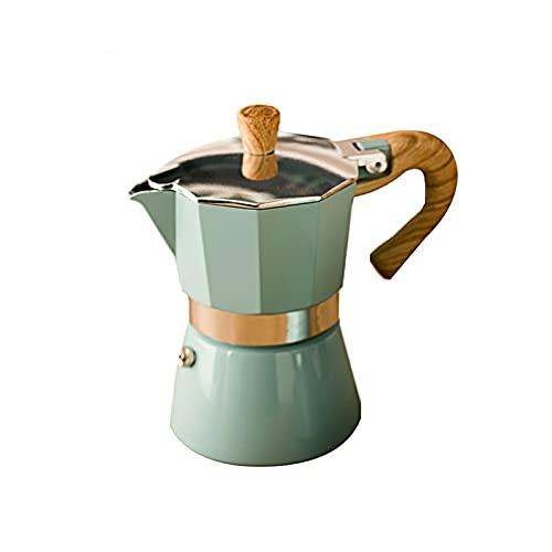 Jingshi SYUCHENG - Cafetera de aluminio de estilo europeo para moka cafeteira Expresso, práctica cafetera Moka de 150/300 ml (color: 300 ml)