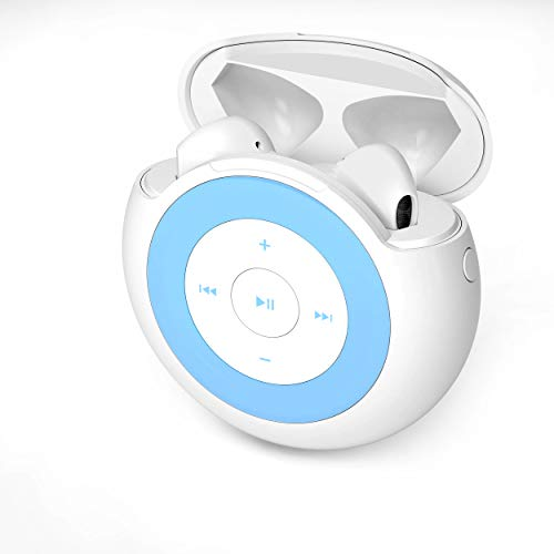 32GB MP3 Player with Bluetooth 5.0 Earbuds Wireless Headphones, MP3 Music Player with Portable HiFi Stereo Sound for Kids (Included Storage Card)