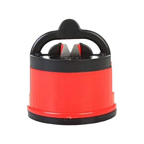 ZHAOXX Affilacoltelli da Cucina PRO 2pcs con Ventosa Mini Posizionatore Manuale per Affilare Strumenti per Tutti I Tipi di Lama Facile E Sicuro, Scelta dello Chef, Base Antiscivolo (Red)