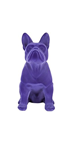 Bulldoge violett mit großen Ohren Mops Samtpuder witziges Geschenk