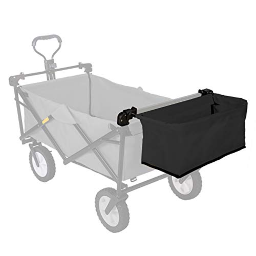 GWXTC Faltbarer Bollerwagen Folding Outdoor-Einkauf Camping Hand drücken Tragbarer Trolley Warenkorb Zubehör - Hecktasche (Color : B)