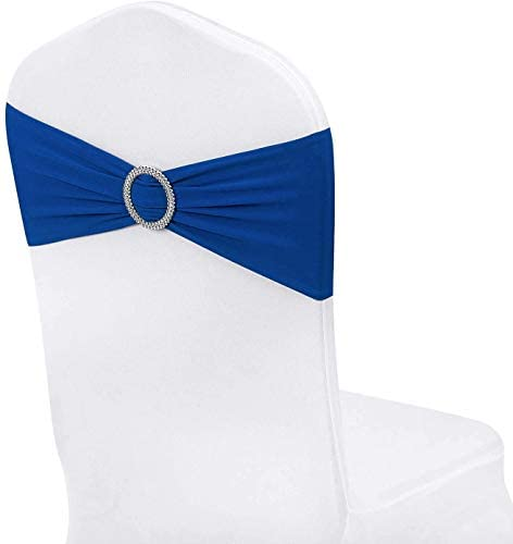 Gelozed 10 PCS Spandex Stretch Chair Sashes Bows for Wedding Reception Universal Elastic Chair product image